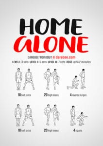 Home alone workout Darebee